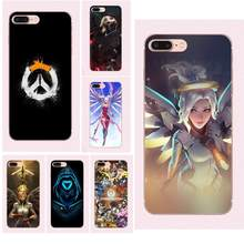 Lujo Vertical caja del teléfono para Samsung Galaxy Note 5 8 9 S3 S4 S5 S6 S7 S8 S9 S10 mini edge Plus Lite Overwatch Mercy(China)