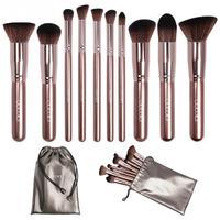 Docolor 10 Pcs Set Soft Classical Make Up Brush Set Blush Brush Eyeshadow Brush Professional Cosmetics