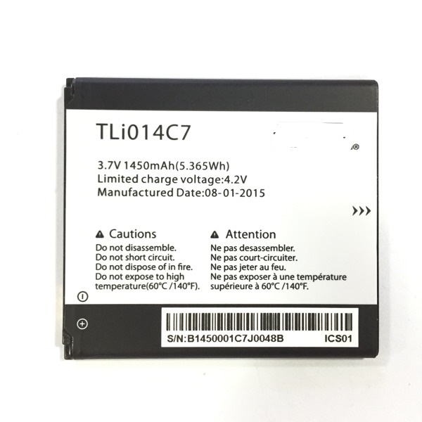 3 7V 1450mAh TLi014C7 For Alcatel OneTouch Pixi First 4024D 4 0 quot Battery in Mobile Phone Batteries from Cellphones amp Telecommunications