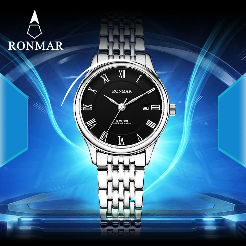 ФОТО 2017 New Luxury Brand Watch Women Fashion StainlessSteel Women Watches RM8005L Women's Quartz WristWatches Relogio Mujer