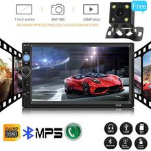 7 Inches 2 Din Car MP5 Bluetooth Touch Screen TF Card USB Stereo Radio FM AM Reversing Monitor For Double DIN HD