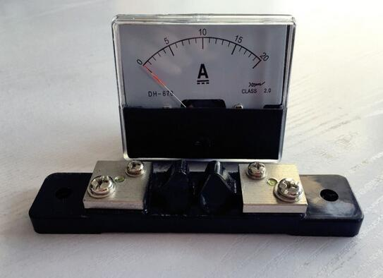 DH-670 DC 0-20A Analog Amp Panel ammeter pointer type current meter panel+shunt