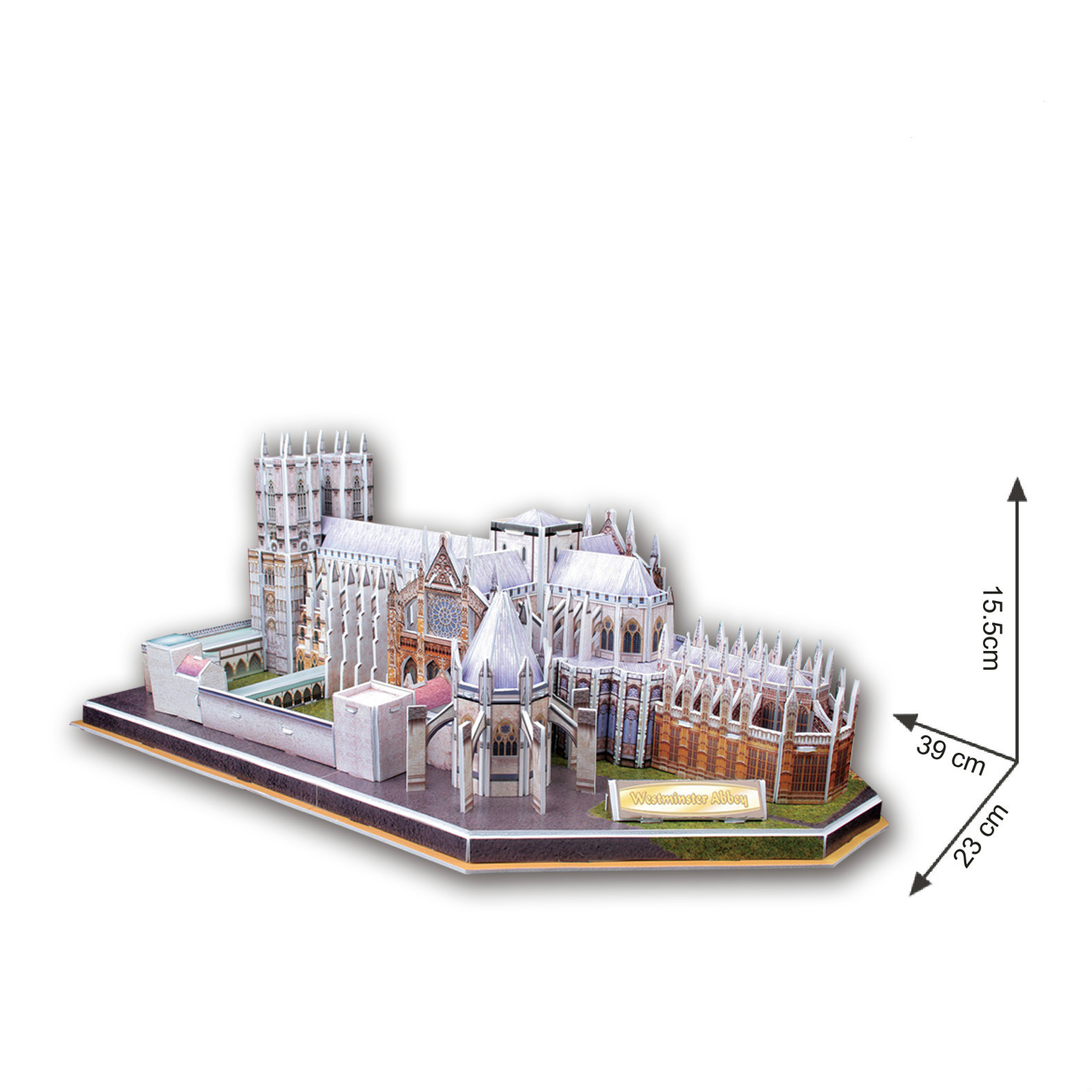 new clever&happy land 3D puzzle paper building model assemble game great Architecture Westminster Abbey church cathedral cubicfun 3d puzzle paper building model assemble gift diy baby toy the hall of supreme harmony world s great architecture mc127h