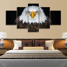 Home Decor Canvas Hd Print Posters 5 Panel Raptor Bald Eagle Painting Modern Wall Art Classic Living Room Modular Picture Frame