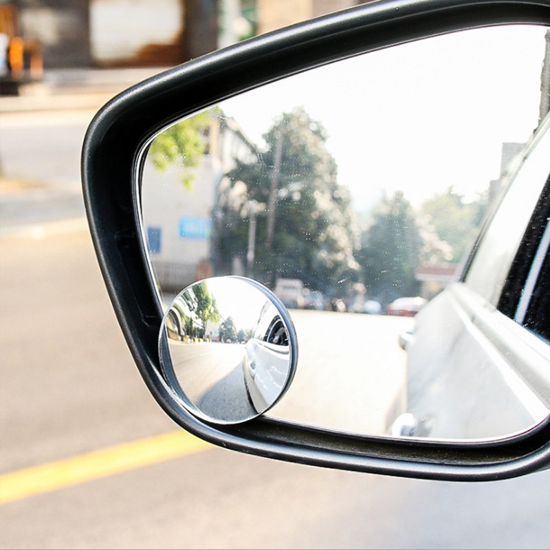 Mirror Blind-Spot Auto-Rearview-Mirror Vehicle Wide-Angle TSLM2 360-Degree Rimless Adjustable title=