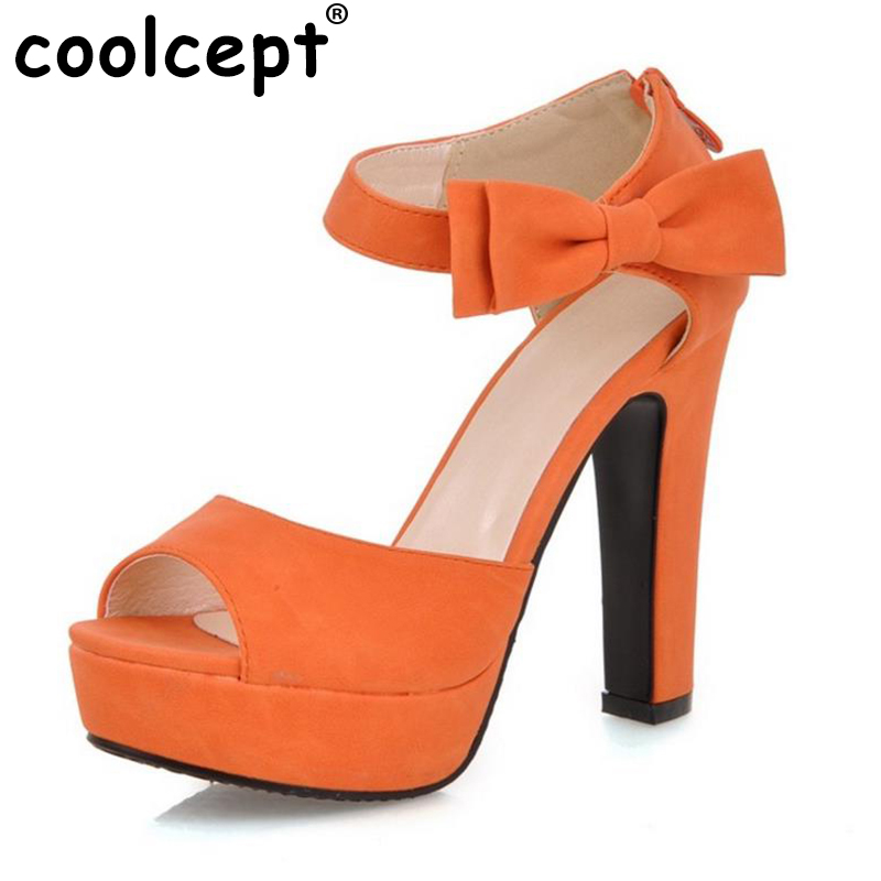 Size 31-43 Ladies High Heels Sandals Peep Toe Ankle Strap Bowtie Thin High Heeled Shoes Women Sexy Female Party Wedding Sandal zorssar brand 2017 high quality sexy summer womens sandals peep toe high heels ladies wedding party shoes plus size 34 43
