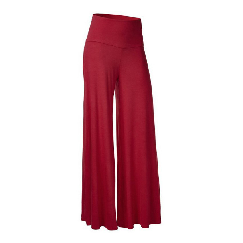 2018 Summer Capris For Women Loose   Wide     Leg     Pants   High Waist Trousers Women   Pants   Plus Large Size Pantalon Femme Palazzo   Pants