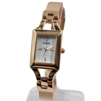 New Good Stylish Watches For Ladies New Rectangular Rose Gold PNP Watchcase White Dial Women Bracelet