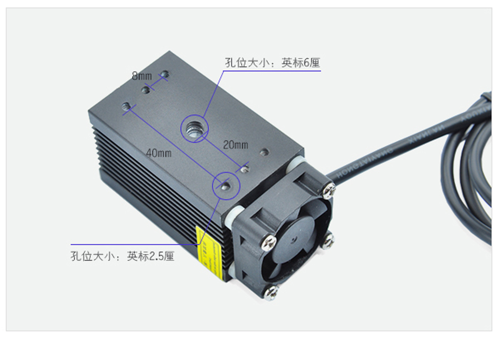 New1000mW Laser Module 1W 5V Focusing Blue Dot 450nm DIY for Hole-punching Marking Engraving Machine