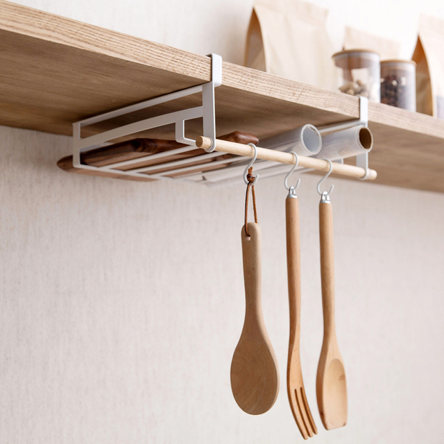 Kitchen Cabinet Under Storage Rack Shelves Hanging Cabinet Partition  Shelves Hanging Basket Wardrobe Layered Hook