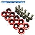 RED JDMSPEED Aluminum Fender Washers 10 PCS For Honda Civic Integra RSX EK