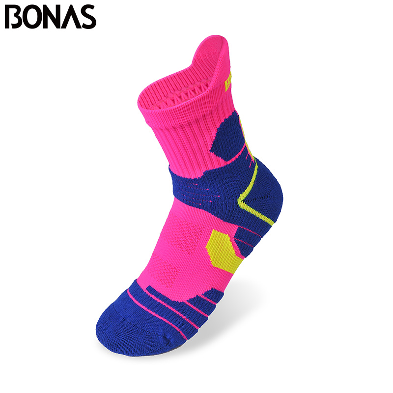 Bonas 3 Pair/pack Quick Dry Short Socks Men High Quality Colorful Fashion Adult Socks CoolMax Polyester Brand Socks
