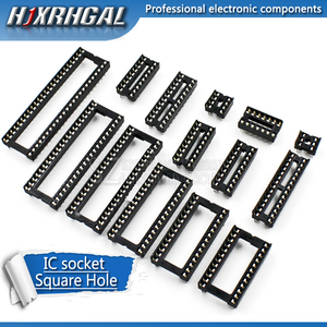 10PCS IC Sockets DIP6 DIP8 DIP14 DIP16 DIP18 DIP20 DIP28 DIP40 pins Connector DIP Socket 6 8 14 16 18 20 24 28 40 pin hjxrhgal