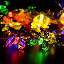 Outdoor Lighting Colorful Decoration Butterfly Luz Garland W