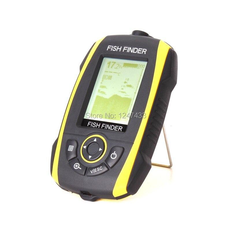 Portable sonar fish finder 240ft 73m depth audible fish for Fish and depth finder