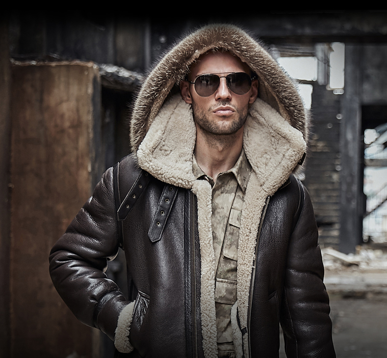 HTB1ce0Rak9E3KVjSZFGq6A19XXaP men genuine leather jacket man real original ecological sheepskin coat raccoon fur detachable hood winter jackets short design