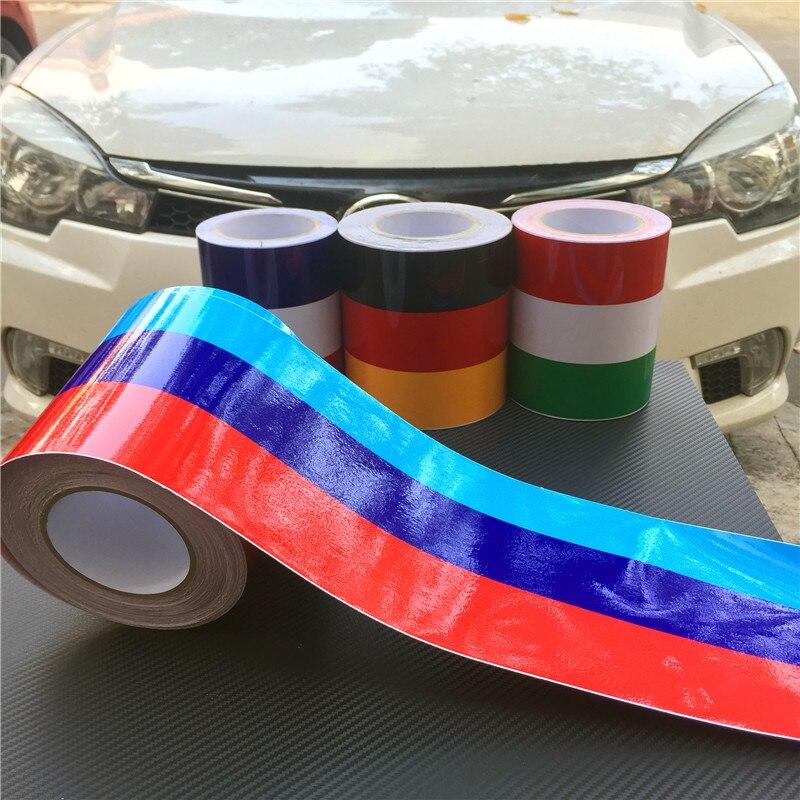 M Rayures De Voiture Capot Autocollant Sur La Voiture Vinyle Brillant Autocollants De Voiture Et Stickers Racing Sport Car Styling Pour BMW M3 M5 M6 E46 E61 E90 E92