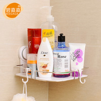 Strong Suction Wall Mounted Stainless Steel Rack with Tray Bathroom Organizer Christmas Home Decor Corner Storage Shelf