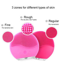 Electric Facial Cleansing Brush Silicone Sonic Vibration Mini Cleaner Deep Pore Cleaning Skin Massage face brush cleansing