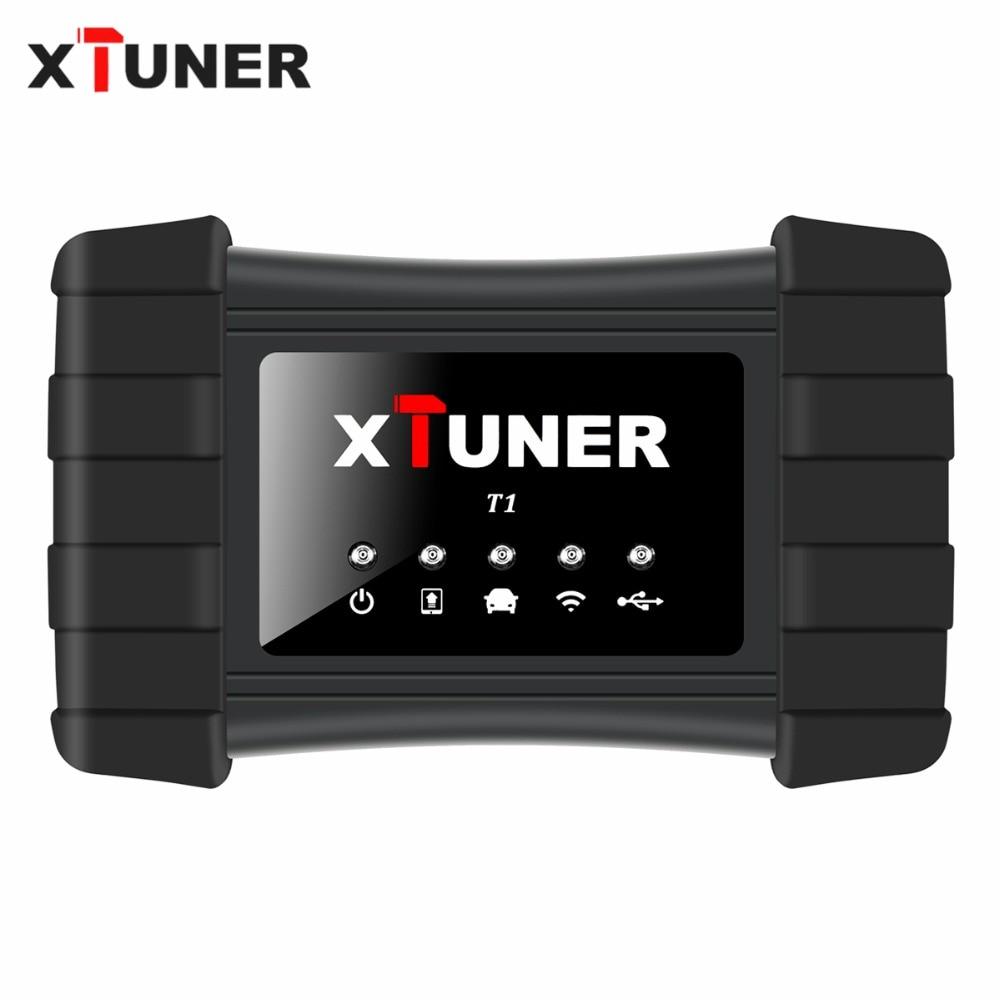 Date V9.3 XTUNER T1 HD Heavy Duty Camions Auto Outil De Diagnostic Avec Camion Airbag ABS DPF EGR Reset + 8 pouces WIN10 OBD Autoscaner