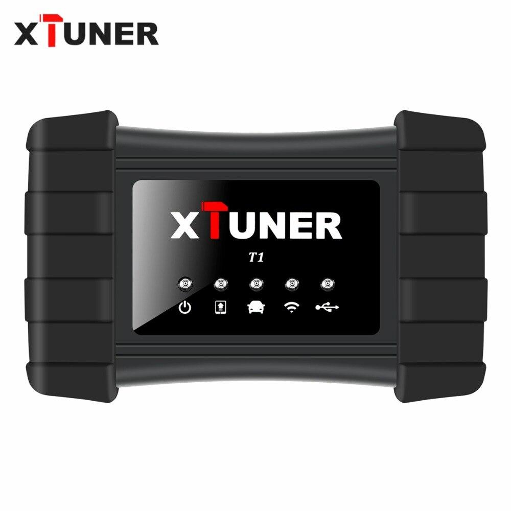 Neueste V9.3 XTUNER T1 HD Heavy Duty Lkw Auto Diagnose Werkzeug Mit Lkw Airbag ABS DPF EGR Reset + 8 zoll WIN10 OBD Autoscaner