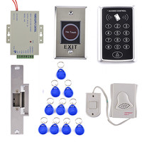 Stainless Steel No Touch Door Release +Electric Strike Lock Door RFID Card Access Control Security Kit