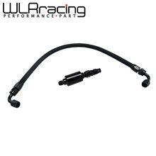 WLR Kit de raccords de ligne de carburant noir filtre en ligne pour filtre Honda Civic Integra série B/D AN6, par exemple EK DC2 CRX EF