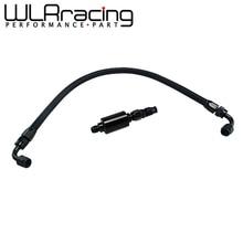 WLR черный заправленный комплект для топливной линии, встроенный фильтр для Honda Civic Integra B/D серии AN6, фильтр EG EK DC2 CRX EF