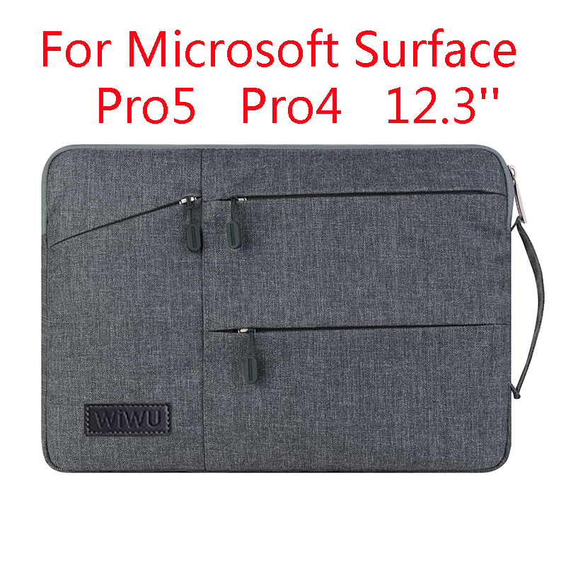 Laptop Sleeve Bag For Microsoft Surface Pro 6 5/4 Fashion Tablet PC Case Waterproof Hand Holder Design Pouch Gift laptop sleeve bag for microsoft surface rt pro 3 2 1 surface 3 fashion tablet case cover waterproof hand holder design pouch