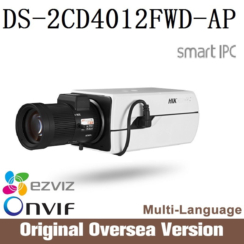HIKVISION Ip Camera  DS-2CD4012FWD-AP Cctv Bullet Face Detection 1080p Poe Ip66 English Version H265 Microphone WDR Onvif hik ip camera ds 2cd4026fwd ap ultra low light 128gb onvif rj45 intrusion detection face detection recognition