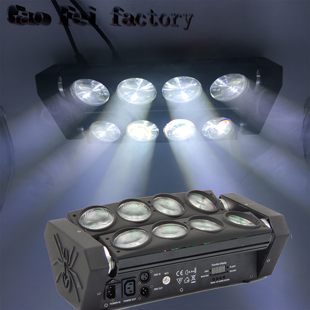 Direct Selling Of Factories 8x12W 4in1 RGBW LED Effect Spider Moving Head Light For Stage Nightclub Disco Party