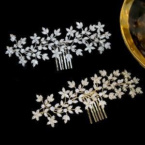 Image 5 - Стразы ASNORA Cz, Шпилька для волос, аксессуары для невесты, гребень для волос, женский головной убор, украшения для свадьбы, Корона