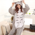 Flannel Winter totoro  cartoon Animal Pajama Sets Women and men Couple Household Clothes Family Women Sleepwear  S M L XL