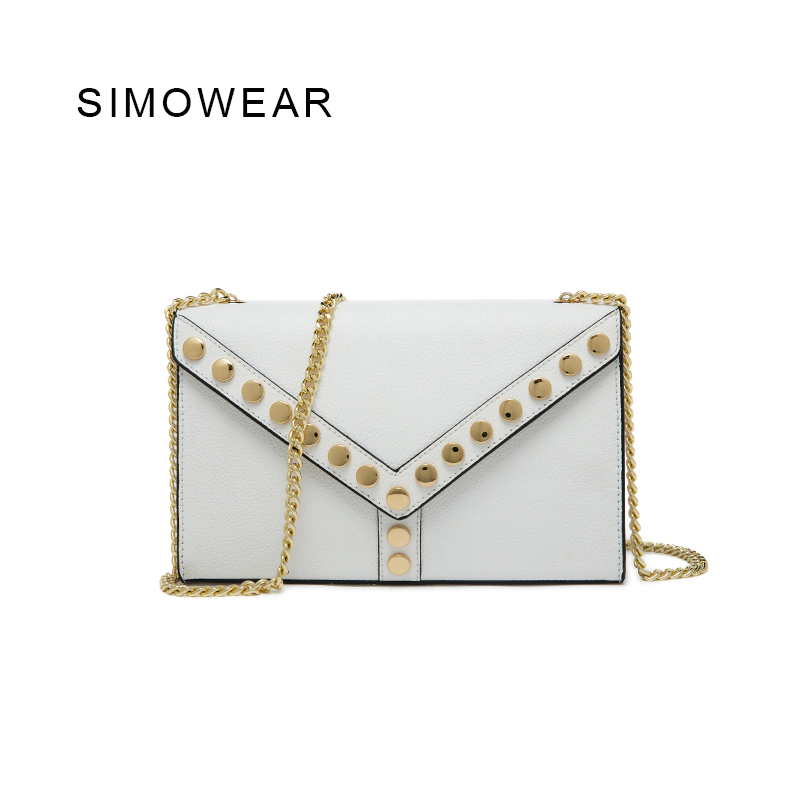 SIMOWEAR 2016 New Arrived Bag Split Leather Women Massenger Bags Sac a Main Femme De Marwue Bolsos Mujer Designer Handbags Tas white pearl high heel shoes crystal platform bridal wedding shoes diamond rhinestone women shoes formal gown prom shoes
