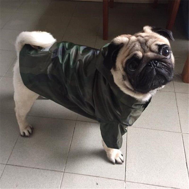 HJKL Pet Dog Raincoat Clothes For Big Dog French Bulldog Labrador Waterproof Rain Coat Jacket Costume Raincoat Clothing Pet Dog