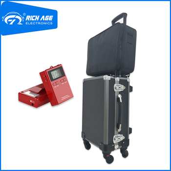 RichiTek Portable Tour Guide System Omnidirectional 4 Transmitters+81 Receivers For Hajj With Condenser Microphone