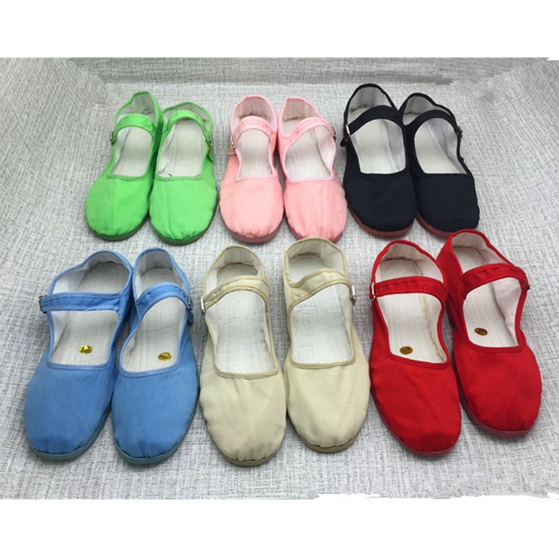 Pure Handmade Cotton Shoes Chinese Lady Vintage Chinese Kung Fu Shoes Wing Chun Tai Chi  Martial Art Pure Cotton Shoes