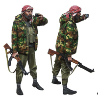 1/35 Resin Soldiers World War II Arab Rebel Soldiers GK White Model Hand Military Warfare Scene 30