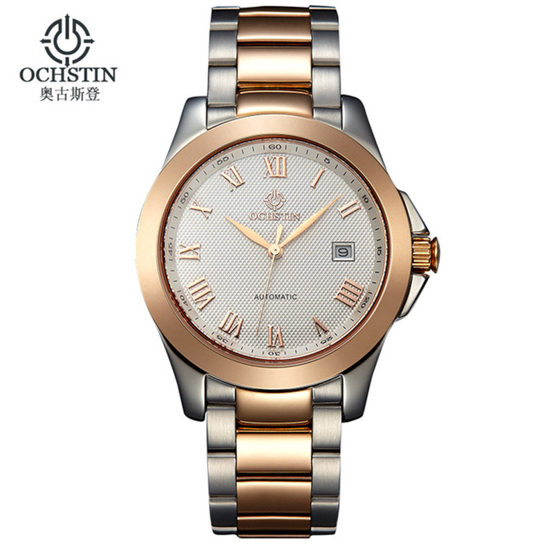 ФОТО Relogio Masculino Ochstin Men's Luxury Brand Military Mechanical Watches Business Stainless Steel Watch Men Relojes Hombre