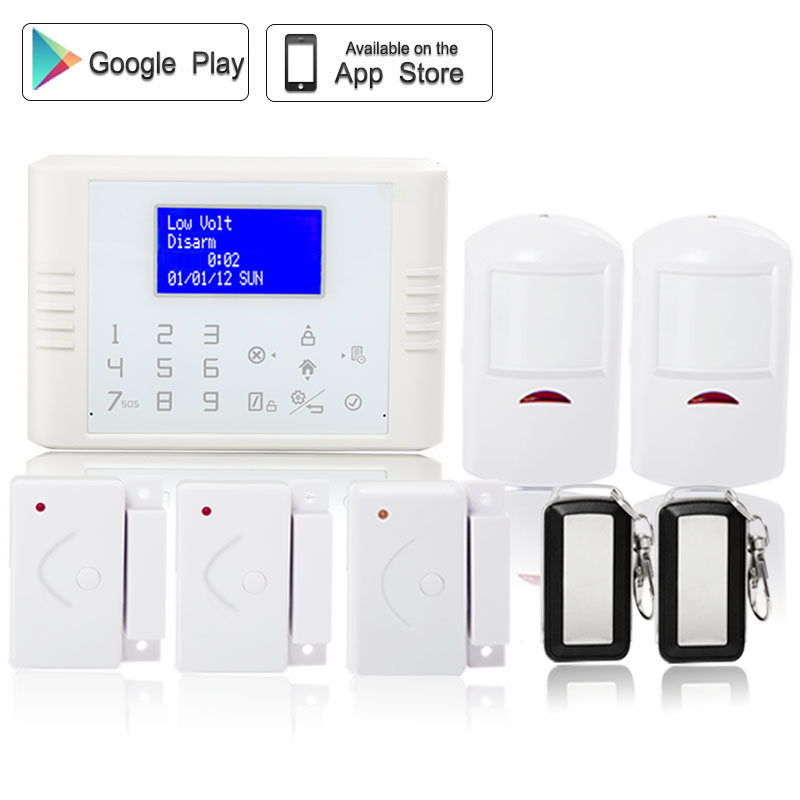 Spanish Phone Remote Control Wireless 433mhz Home Security PSTN GSM SMS Alarm System LCD screen SIM card with PIR motion sensor yobang security touch lcd screen pstn sms alarm system home security gsm alarm system quad band wireless alarm panel