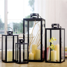 Europe Classic Moroccan Decor Candle Holders Votive Iron Glass Hanging Candlestick Lantern Party Home Wedding