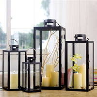 Europe Classic Moroccan Decor Candle Holders Votive Iron Glass Hanging Candlestick Candle Lantern Party Home Wedding Decor
