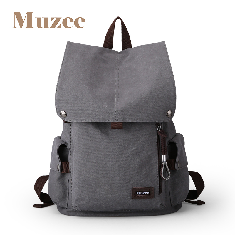 Muzee Canvas Male Backpack High Capacity Travel Bag 15.6 inch Laptop backpack Men School Bag Rucksack mochila Drop Shipping 2017 ozuko men canvas backpack vintage fashion rucksack large capacity travel mochila 15 inch laptop backpack srudent school bag