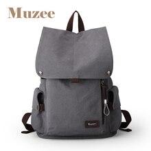 Muzee mochila de lona para hombre, bolso de viaje de alta capacidad, mochila para ordenador portátil de 15,6 pulgadas, escolar, 1033