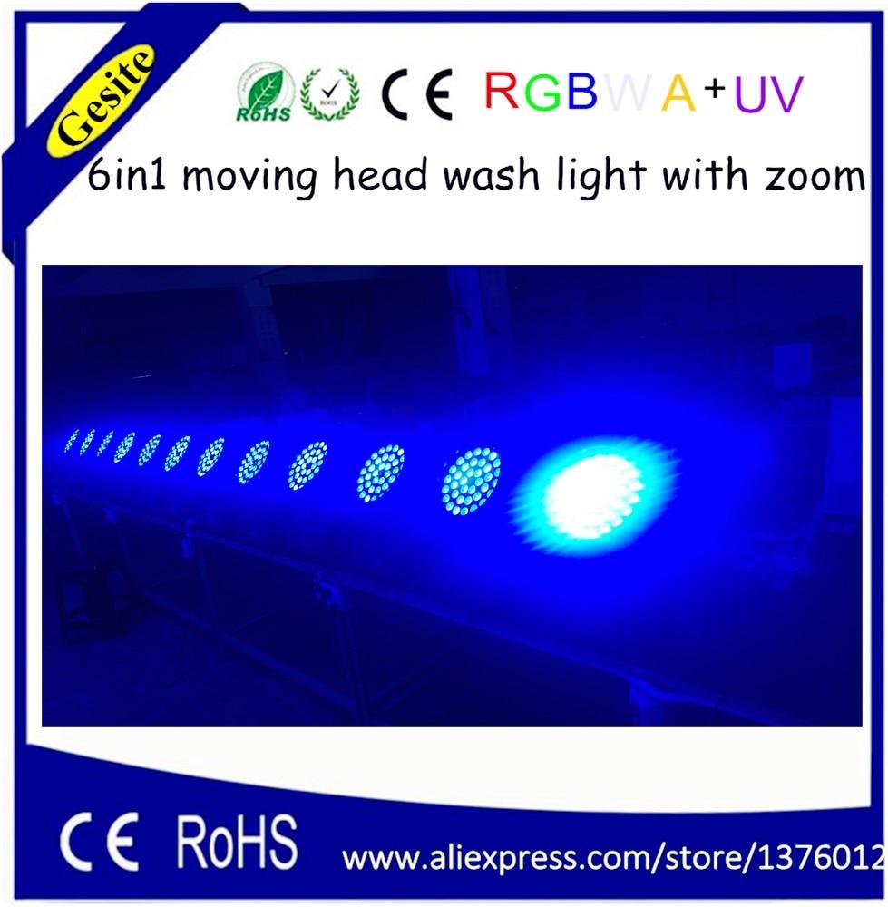 2016 uuden tuotteen 36 * 18w led-liikkuva pään zoomauspesuvalo RGBWY + UV 6in1 zoom led -pesu liikkuva päänvalo vaiheessa yökerho valaistus