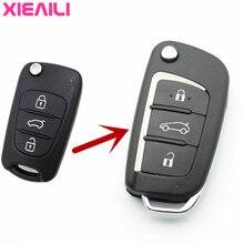 XIEAILI 2 pcs 3 Botão Modificado Aleta Dobrar Caso Remoto Chave Shell Para  Hyundai I30 IX35 Para Kia K2  K5 Fob Caso Chave Sport. fcf4525dfa18e