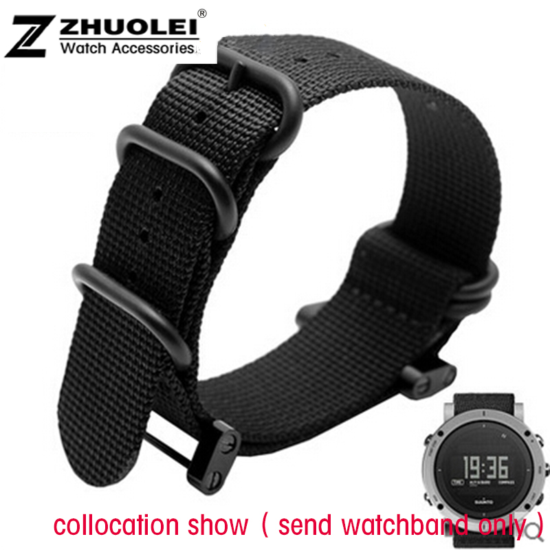 hot sale fashion nato long Suunto Core Nylon Strap Band Kit w Lugs Adapters 24mm Zulu Watchbands nylon smart bracelet for men wholesale suunto core nylon diver strap band kit w lugs adapters armygreen 5 colours 24mm zulu nato watchbands