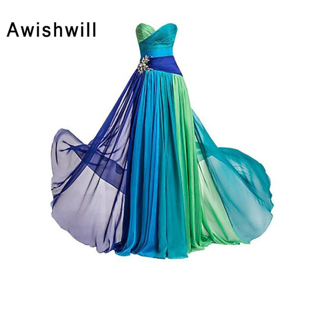 Hot Sale Sweetheart Floor Length Chiffon Parom Dresses Women Formal Robe de  Soiree Party Custom Plus Size Long Evening Dress 10ef91486