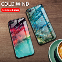 Marble Starry Sky Phone Case For iPhone 6 6S 7 8 Plus Tempered Glass Gradient Cover Apple X XR XS Max Girl Man Cases