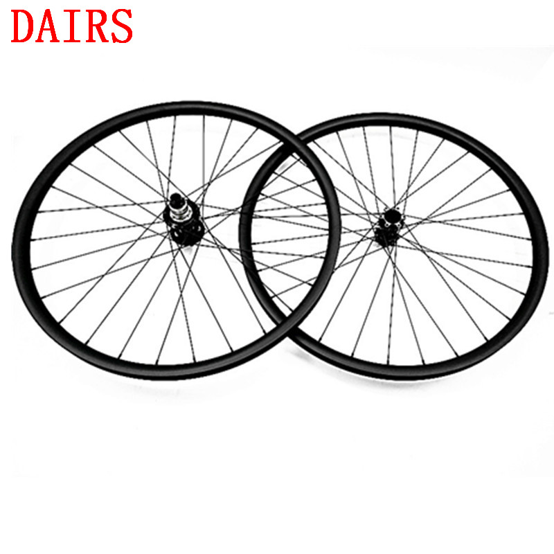 1635g 29er 30mm width 30mm depth mtb carbon wheelset 29 inch Carbon Mountain Bike wheels with MTB powerway M82 hubs